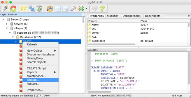 backupdatabase