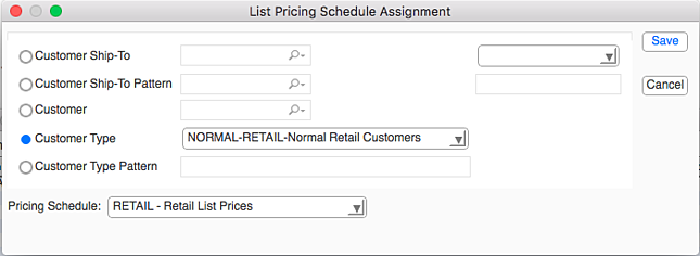 listPricingScheduleAssignment