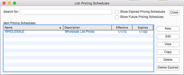 listPricingSchedules